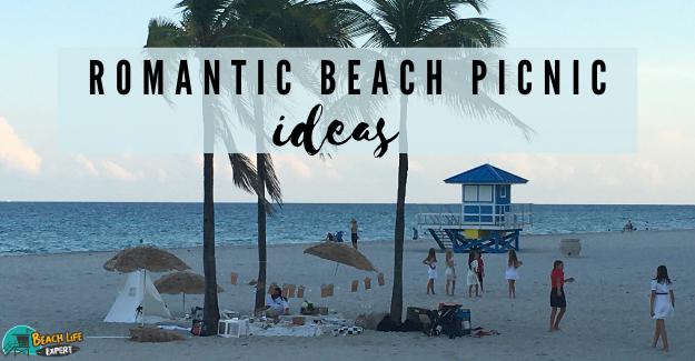 Romantic beach picnic ideas sunset