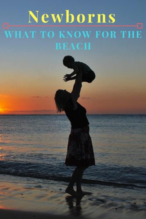 Newborn babies and essential beach items