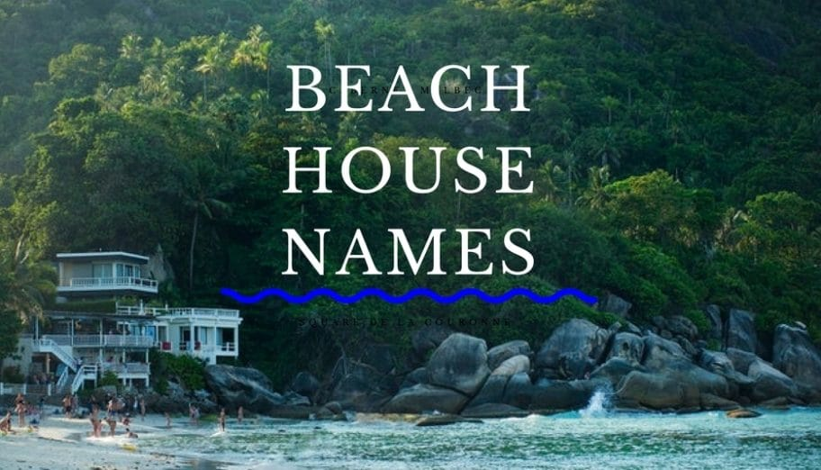 beach house names and puns for homes by the sea