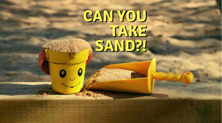 Can you take sand from the beach