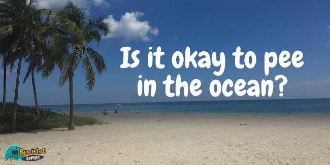 Is it okay to pee in the ocean