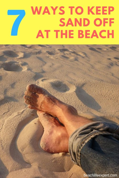 best ways to keep sand off you at the beach
