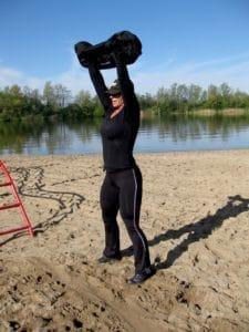 Best sandbag weight for beach workout