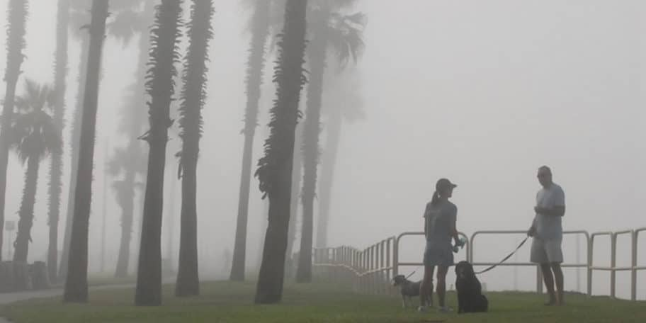 What causes the marine layer in California